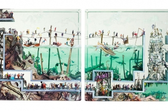 dustin yellin collages photo 3d 6 331x219 - Collages Photo 3D qui en Disent Long sur Notre Monde