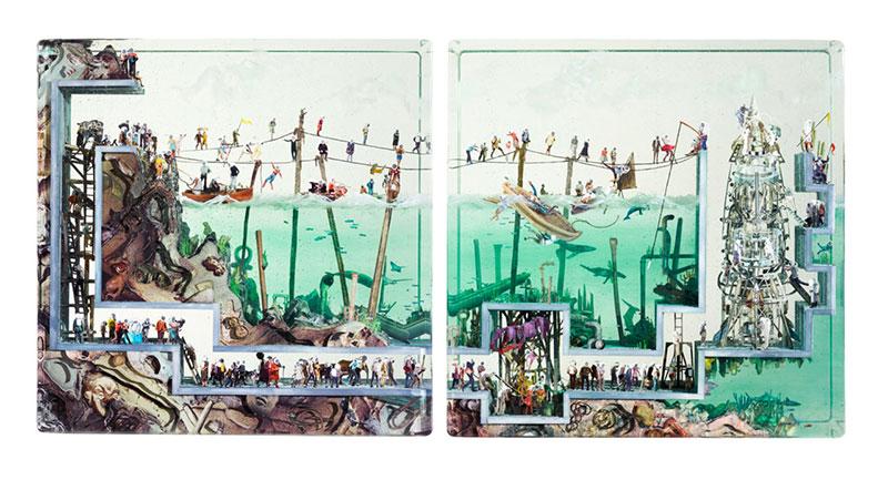 dustin yellin collages photo 3d 6 - Collages Photo 3D qui en Disent Long sur Notre Monde