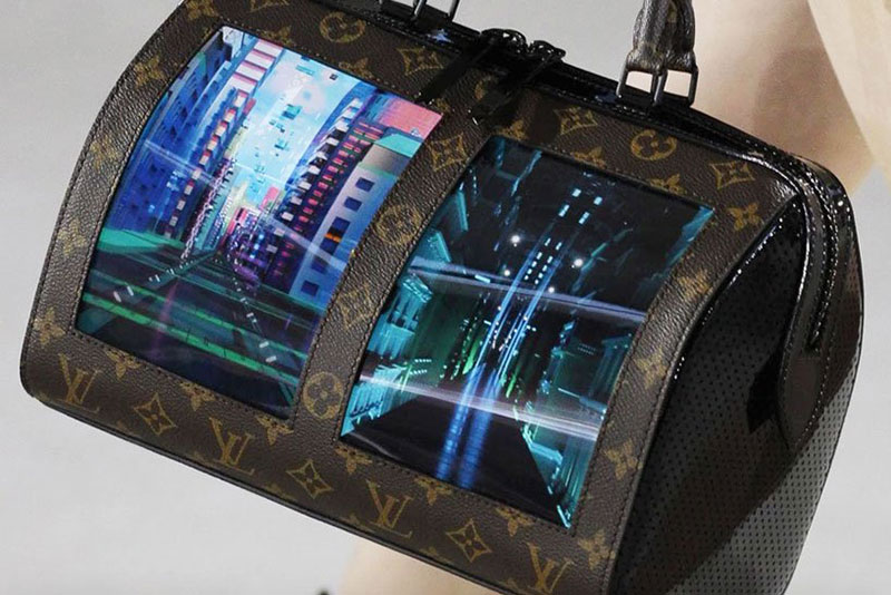 sacs louis vuitton ecrans, Des Ecrans Souples sur les Sacs Louis Vuitton (video)