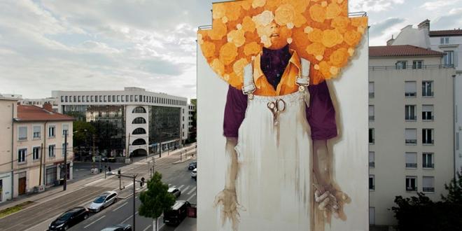 fresque murale inti lyon art 2 660x330 - Une Fresque Murale Géante Ensoleille la Ville de Lyon