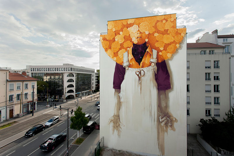 fresque murale inti lyon art 2 - Une Fresque Murale Géante Ensoleille la Ville de Lyon