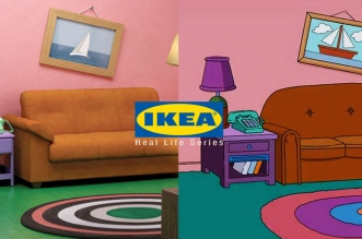 ikea decor moblier salon simpsons friends strange things 1 331x219 - Salon des Simpsons, Strange Things et Friends chez Ikea