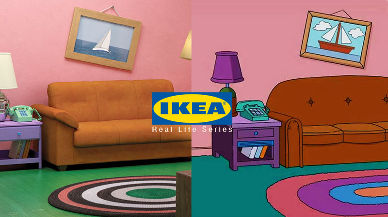 ikea salon séries, Salon des Simpsons, Strange Things et Friends chez Ikea