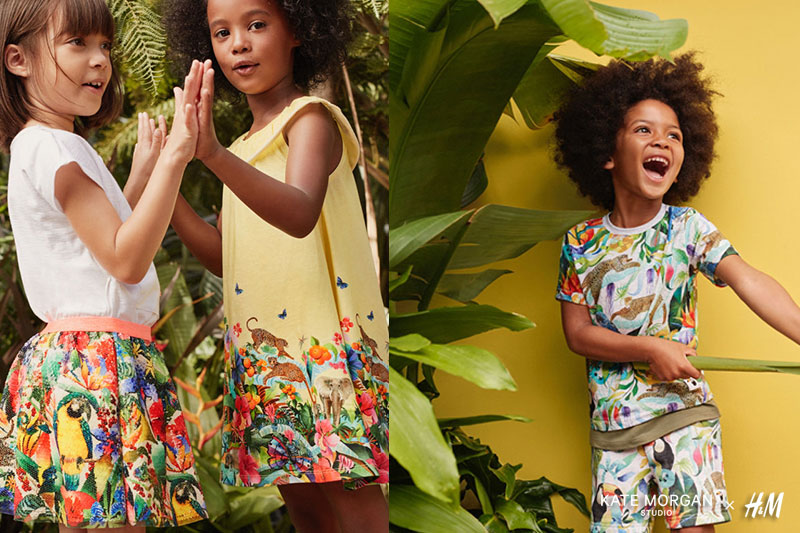 Kate Morgan Studio H&M, Kate Morgan x H&M, une Collection Enfants Pleine d'Animaux