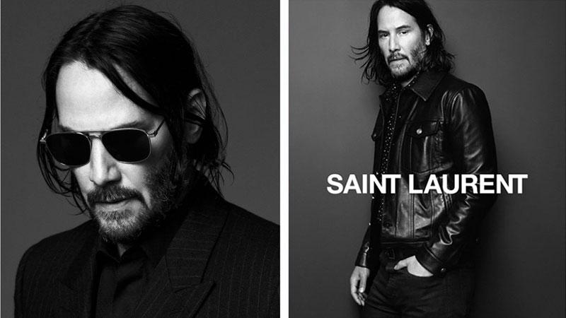 keanu reeves saint laurent campagne hiver 2019 2020 2 - Saint Laurent Homme Invite Keanu Reeves pour l'Hiver