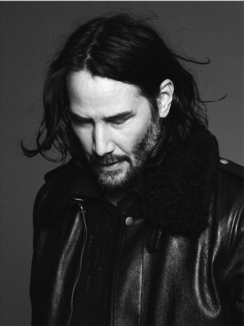 saint laurent Keanu Reeves, Saint Laurent Homme Invite Keanu Reeves pour l'Hiver
