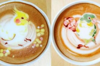 latte art oiseaux dessins cafe lait 2 331x219 - L'Art de Dessiner des Oiseaux dans du Café au Lait