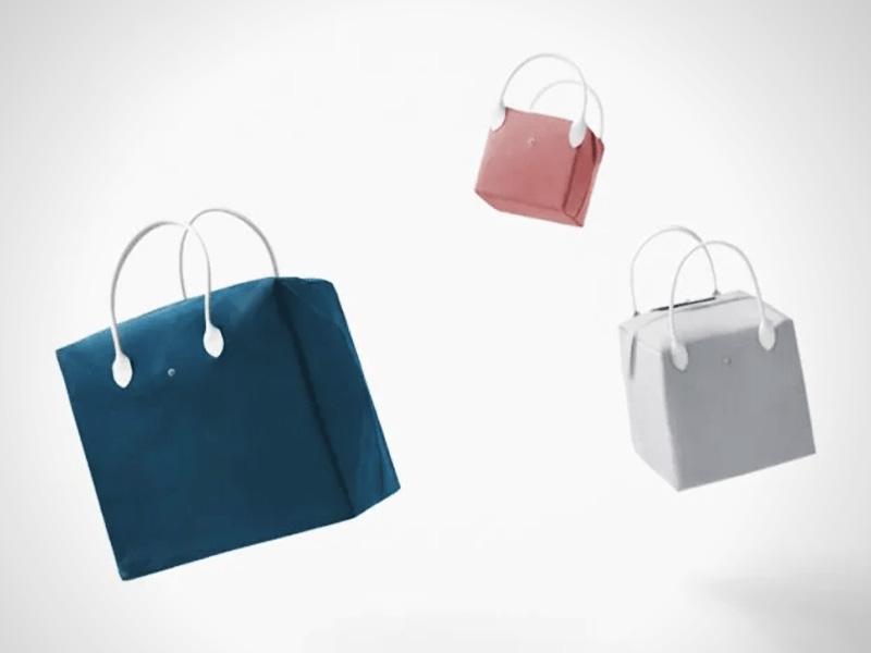 longchamp studio nendo collection sacs pliage 1 - Le Sac Pliage de Longchamp Revisité par Nendo Design