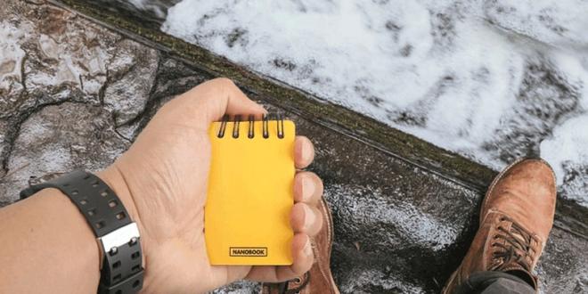 plei design nanobook carnet notes indestructible revolutionnaire 1 660x330 - Carnet de Notes Indestructible en Papier de Pierre (video)