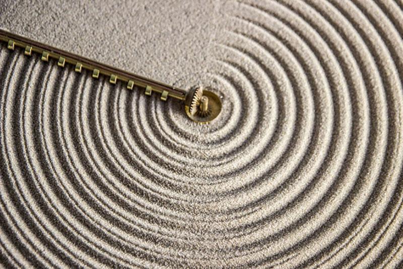 sand horloge sable, Sand, l'Horloge qui Affiche l'Heure sur du Sable