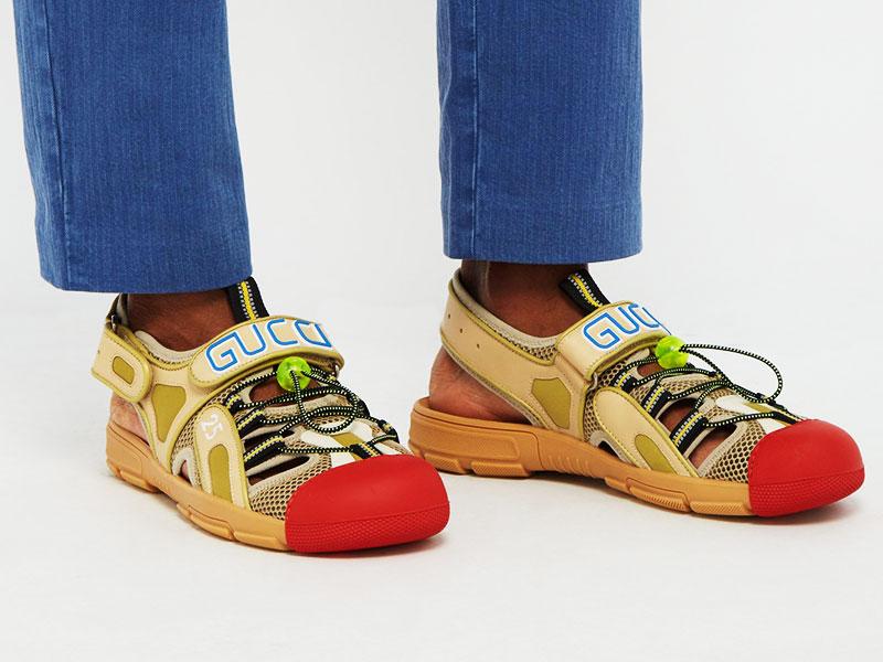 sandales gucci chaussures randonne clown 1 - Gucci Dévoile ses Chaussures de Luxe ou de Clown ?!
