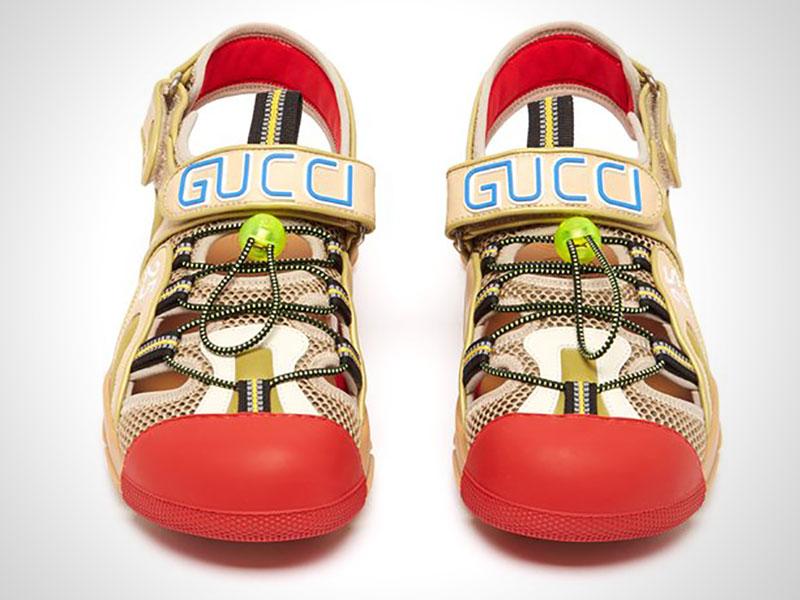 sandales gucci chaussures randonne clown 4 - Gucci Dévoile ses Chaussures de Luxe ou de Clown ?!
