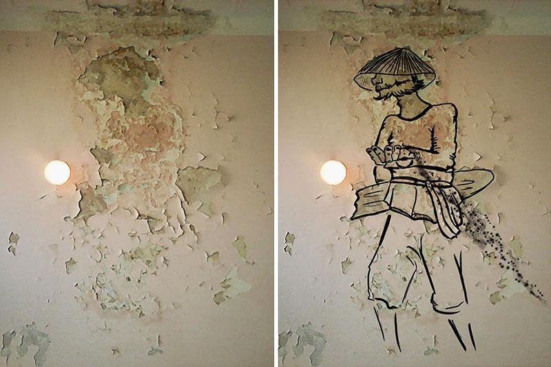 Murs Décrépis Art, Cette Artiste Transforme les Murs Décrépis en Oeuvres d'Art
