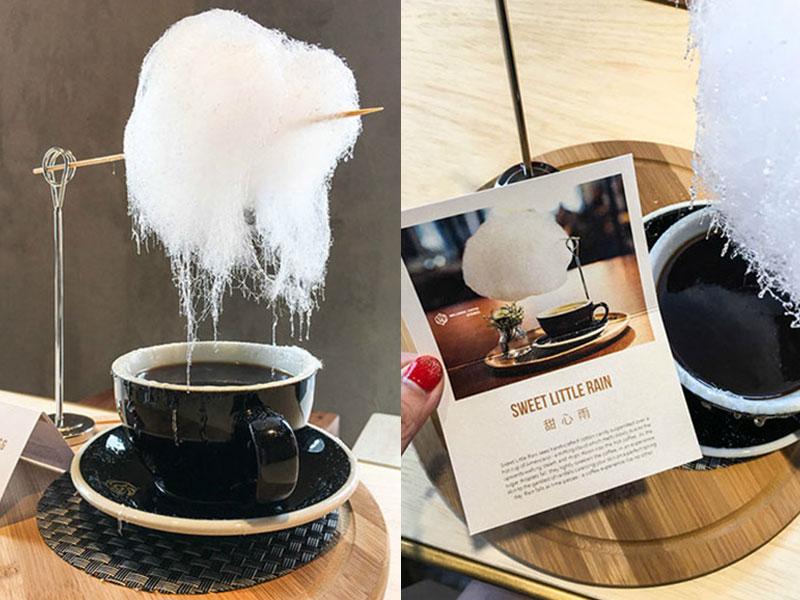 nuage sucre cafe, Poétique Nuage de Sucre au Dessus d'une Tasse de Café