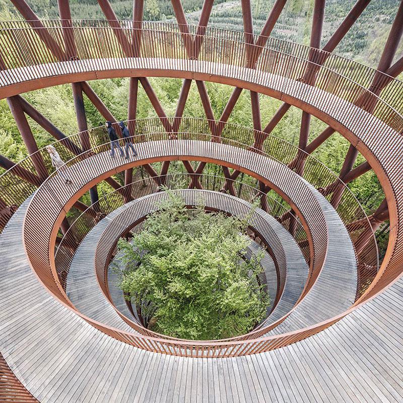 tour Observatoire foret effekt danemark 10 - Dans la Forêt Danoise une Tour Observatoire de 45 m Ouvre au Public