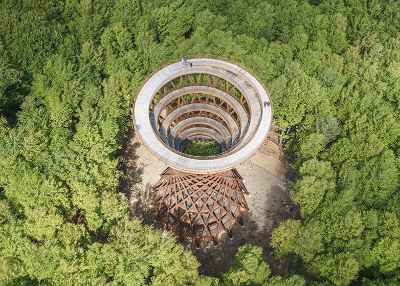 tour Observatoire foret effekt danemark 2 - Dans la Forêt Danoise une Tour Observatoire de 45 m Ouvre au Public