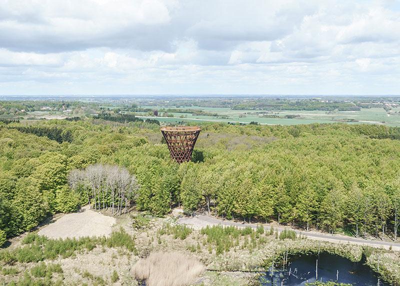 tour Observatoire foret effekt danemark 3 - Dans la Forêt Danoise une Tour Observatoire de 45 m Ouvre au Public