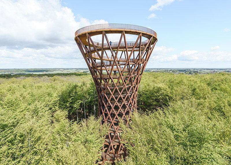 tour Observatoire foret effekt danemark 5 - Dans la Forêt Danoise une Tour Observatoire de 45 m Ouvre au Public
