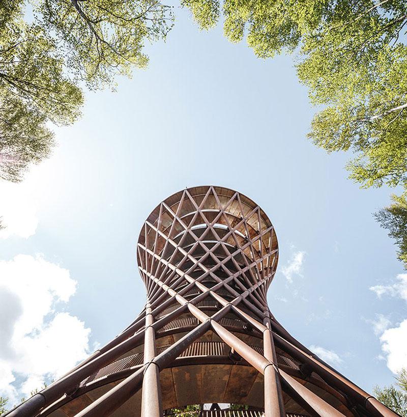 tour Observatoire foret effekt danemark 6 - Dans la Forêt Danoise une Tour Observatoire de 45 m Ouvre au Public