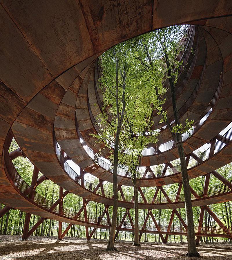 tour Observatoire foret effekt danemark 9 - Dans la Forêt Danoise une Tour Observatoire de 45 m Ouvre au Public