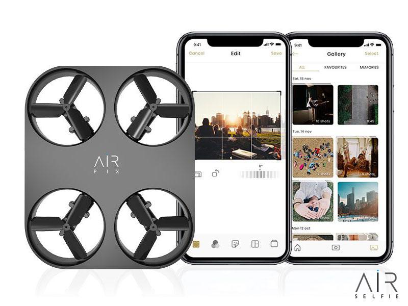 air pix mini drone de poche selfies photo video 12mp 4 - Mini Drone avec Camera HD pour Selfies Photo et Video (video)