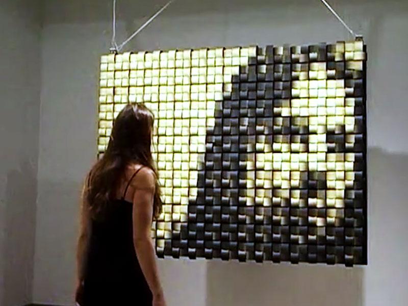 daniel rozin miroir mecanique cinetique art 1 - Artistique Miroir Cinétique à Réflexion Dynamique