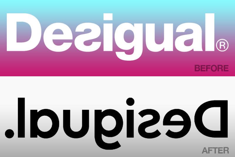 desigual nouveau logo 2019 inverse effet miroir 3 - Effet Miroir pour le Nouveau Logo Desigual