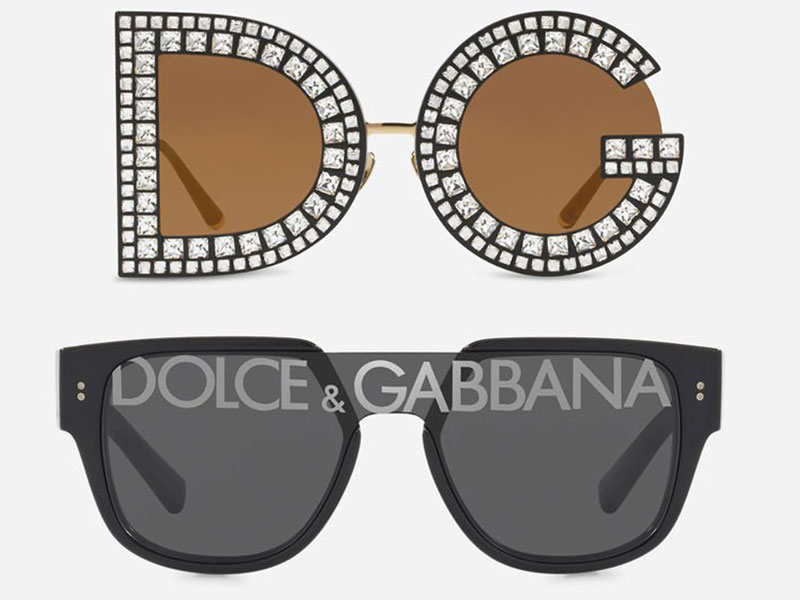dolce gabbana dglogo lunettes de soleil 2019 campagne 10 - Logo Dolce & Gabbana sur les Verres des Lunettes de Soleil