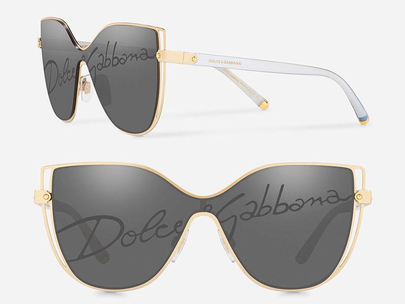 dolce & gabbana lunettes, Logo Dolce & Gabbana sur les Verres des Lunettes de Soleil