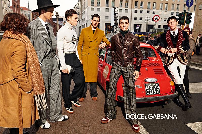 dolce gabbana homme campagne hiver 2019 2020 01 - l'Homme Dolce Gabbana Joue les Dandys à Milan