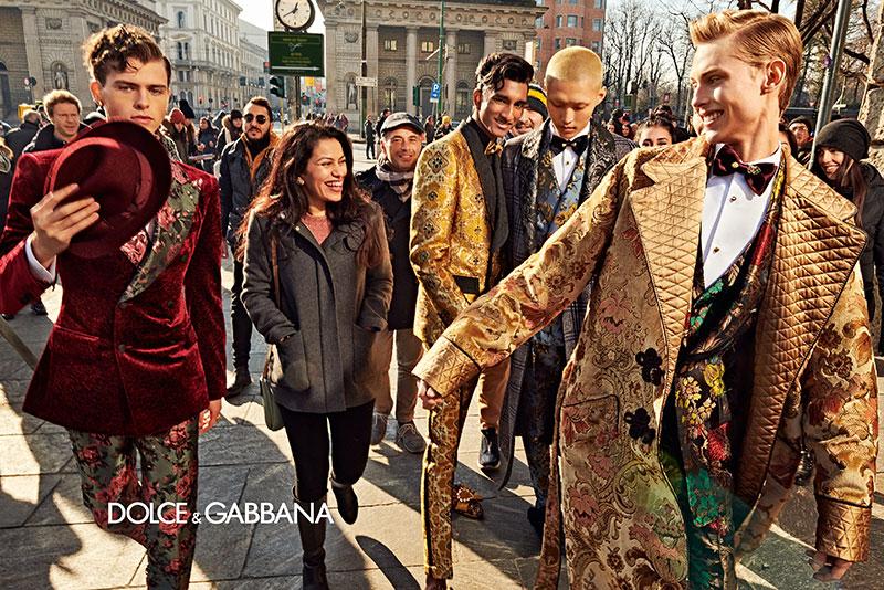 dolce gabbana homme campagne hiver 2019 2020 02 - l'Homme Dolce Gabbana Joue les Dandys à Milan