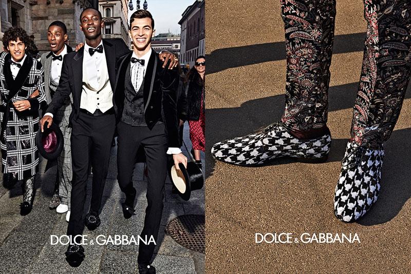dolce gabbana homme campagne hiver 2019 2020 08 - l'Homme Dolce Gabbana Joue les Dandys à Milan