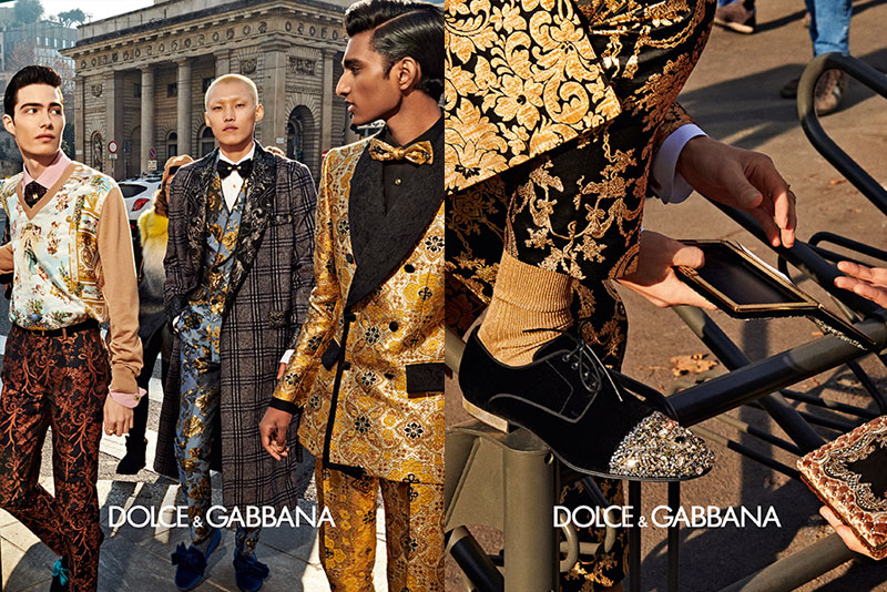 dolce gabbana homme campagne hiver 2019 2020 10 - l'Homme Dolce Gabbana Joue les Dandys à Milan