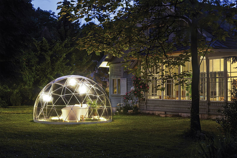 igloo jardin, Igloo Transparent de Jardin pour Profiter de la Nature (video)