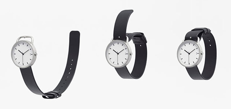 nendo tenten buckle watch montre bracelet ceinture 2 - Nendo Met une Ceinture à sa Montre Minimaliste Buckle