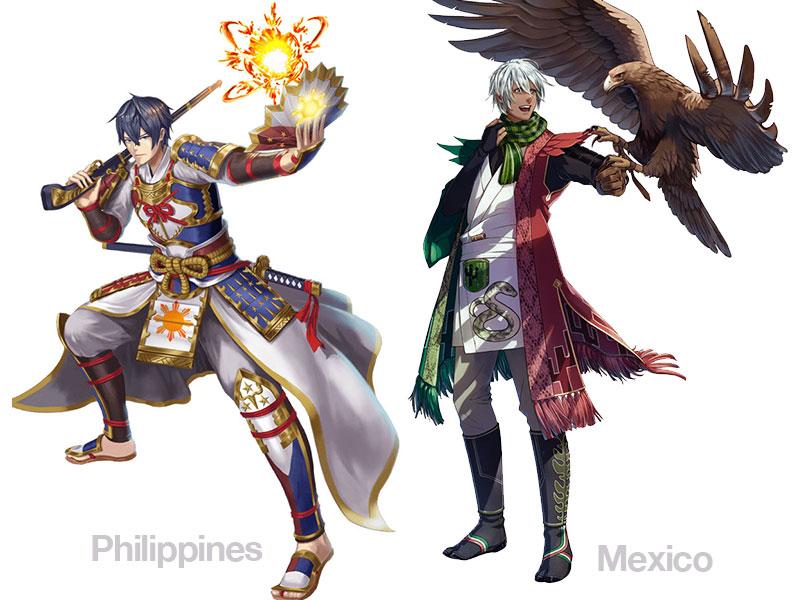 personnages jap animes pays jo 2020 01 - Pays Participants aux JO 2020 de Tokyo en Personnages d'Animes