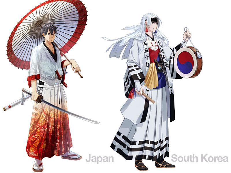 personnages jap animes pays jo 2020 03 - Pays Participants aux JO 2020 de Tokyo en Personnages d'Animes