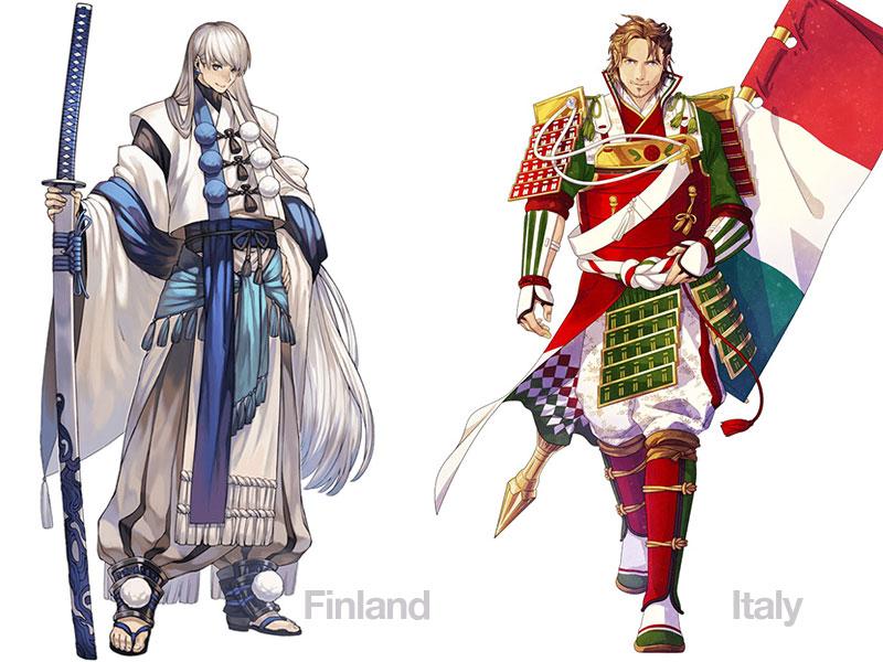 personnages jap animes pays jo 2020 06 - Pays Participants aux JO 2020 de Tokyo en Personnages d'Animes