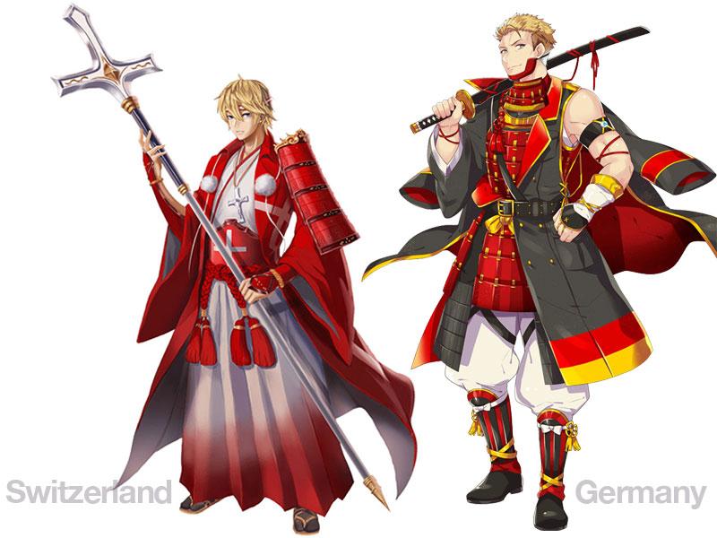 personnages jap animes pays jo 2020 09 - Pays Participants aux JO 2020 de Tokyo en Personnages d'Animes