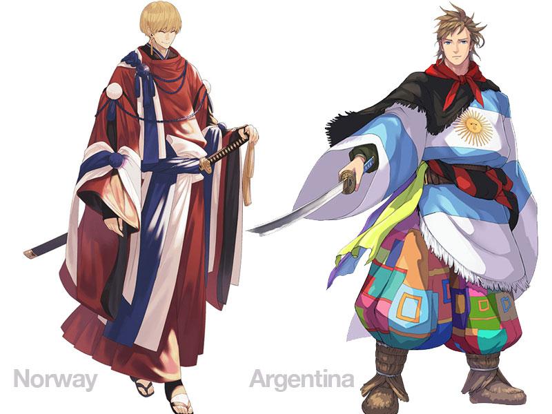 personnages jap animes pays jo 2020 10 - Pays Participants aux JO 2020 de Tokyo en Personnages d'Animes