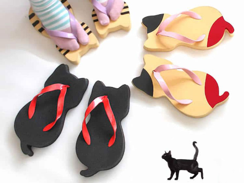 tongs chats nara getaya sandales 04 - Adorables Tongs en Forme de Chat pour l'Ete