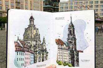 aquarelle villes danny hawk 01 331x219 - Cet Artiste Peint à l'Aquarelle les Villes d'Europe qu'il Visite