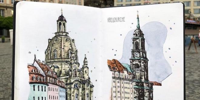 aquarelle villes danny hawk 01 660x330 - Cet Artiste Peint à l'Aquarelle les Villes d'Europe qu'il Visite