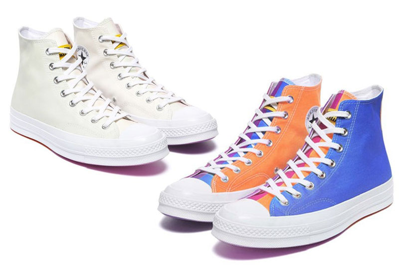 Baskets Converse uv, Ces Baskets Converse Changent de Couleur au Soleil
