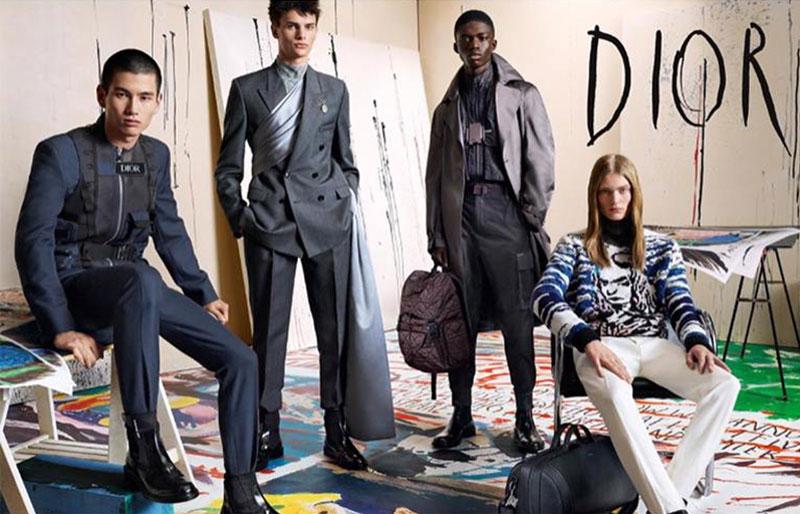 compagne dior homme hiver 2019 2020 4 - Pour l'Homme Dior l'Hiver sera Chic et Artistique