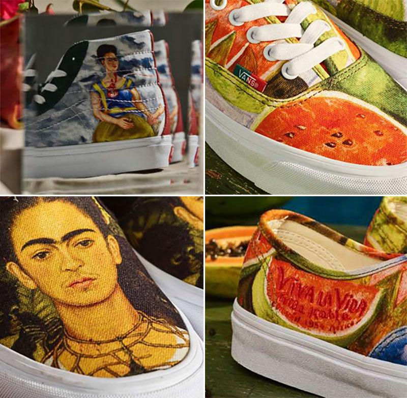 Vans Frida Kahlo, Baskets Vans aux Couleurs des Toiles de Frida Kahlo