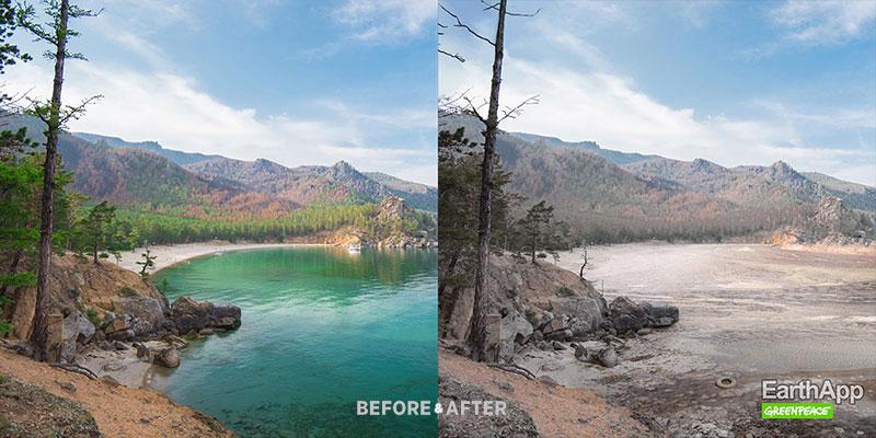 greenpeace earthapp campagne isobar russie 01 - EarthApp pour Voir le Monde Avant et Apres le Réchauffement Climatique