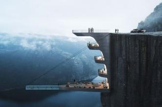 hayri atak concept hotel falaise preikestolen norvege 01 331x219 - Hôtel et Piscine dans la Falaise de Preikestolen en Norvège