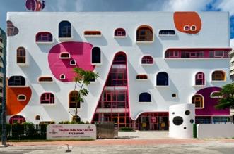 jardin enfants design architecture vietnam 01 331x219 - Architecture Ludique pour un Jardin d'Enfants Inspirant