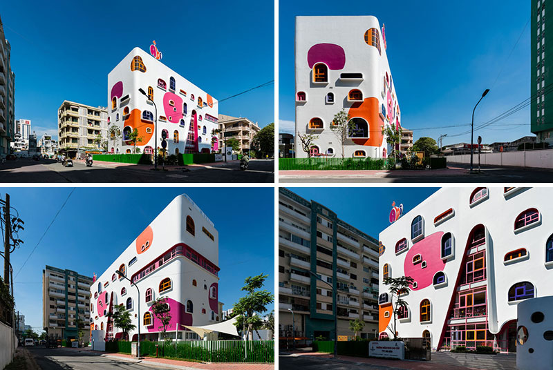 jardin enfants design architecture vietnam 02 - Architecture Ludique pour un Jardin d'Enfants Inspirant